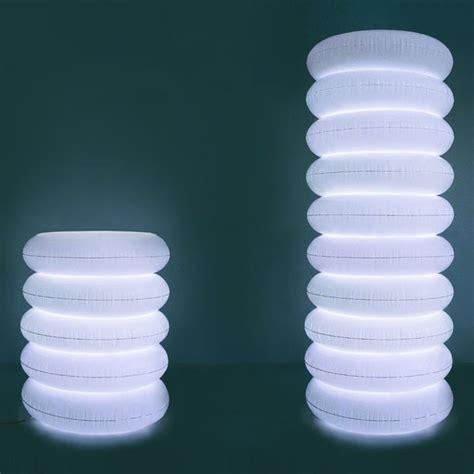 Puff Column Inflatable Lamp  Green Head
