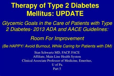 therapy  type  diabetes mellitus update