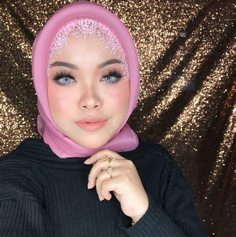 tudung bawal  inspirasi selebriti indonesia nanathnadia