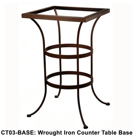 counter height table base ow lee standard wrought iron counter height table base