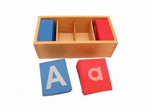 little red and blue sandpaper letters in boxes pink With sandpaper letters for sale