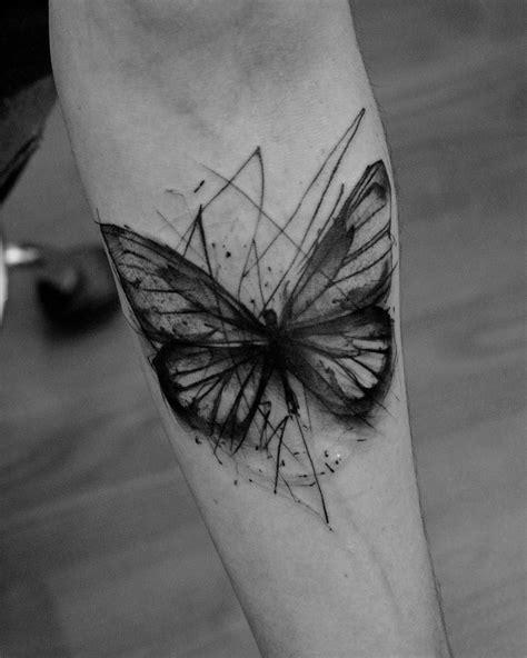 sketch style butterfly  kamil mokot animal tattoo