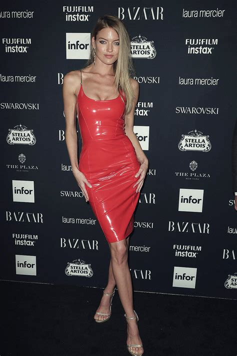 martha hunt attends harpers bazaar icons party leather