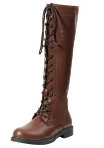 women s brown lace up boots