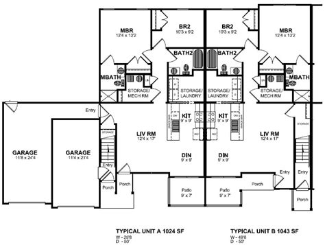 Home Plans With Apartments Attached by Floor Plan Attached Garage House Plans 29792