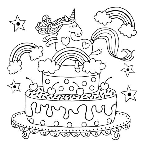 downloadable unicorn colouring page michael omara books