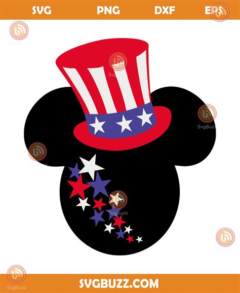 Svg, png, dxf + 24/7 technical support. Mickey happy 4th of july svg, independence day svg, 4th of ...