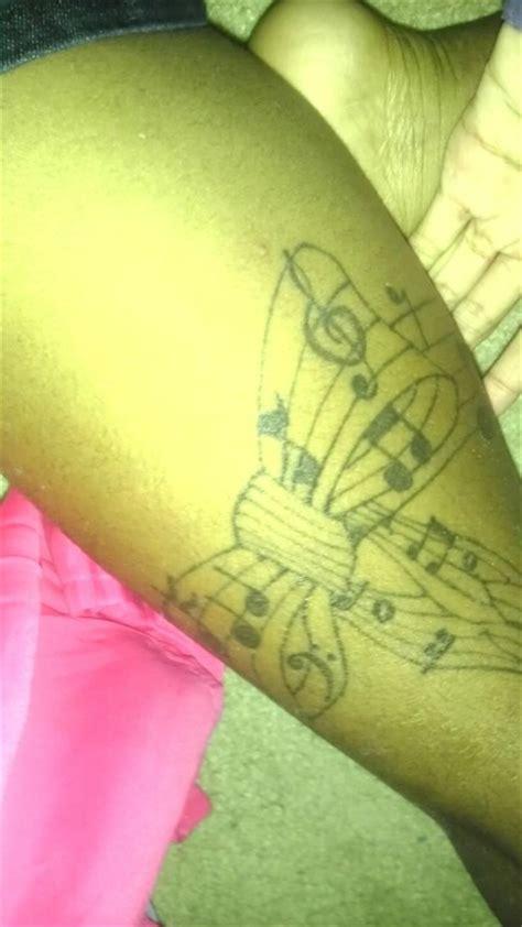 thigh tattoo  sheet   bow tattoos pinterest
