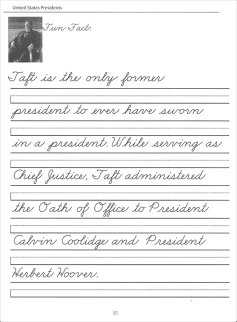 united states presidents character writing worksheets