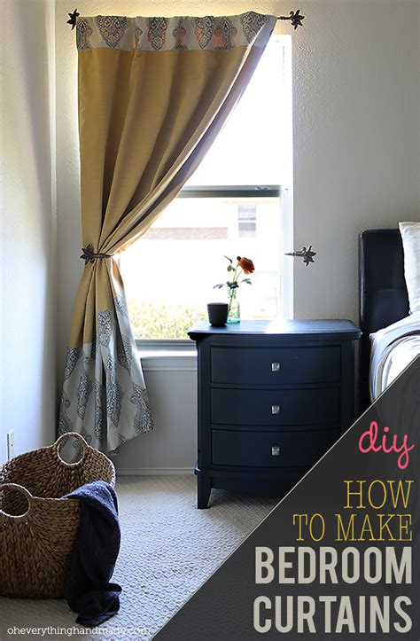 diy how to make back tab bedroom curtains