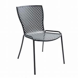 Chaise De Jardin Metal : rig21s chaise en m tal empilable pour le jardin sediarreda ~ Dailycaller-alerts.com Idées de Décoration