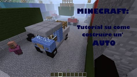 Minecraft  Tutorial Su Come Costruire Un'auto Youtube
