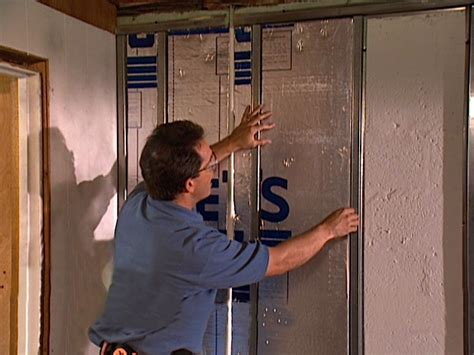 Hanging Drywall On Ceiling Or Walls by How To Hang Drywall On A Cinderblock Wall How Tos Diy
