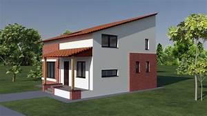 Small Attic Style Brick house design. House B54. 160 ...