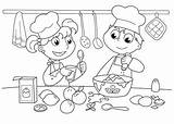 Coloring Cooking Pages Baking Printable Cookies Bakery Cake Unisex Chef Utensils Cook Chefs Kitchen Baked Goods Culinary Arts Funky Bunny sketch template