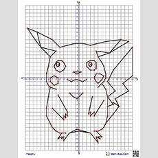 Pikachu From Pokemon Coordinate Graphing Picture4 Quadrant Graphing Picture From Mathaidscom