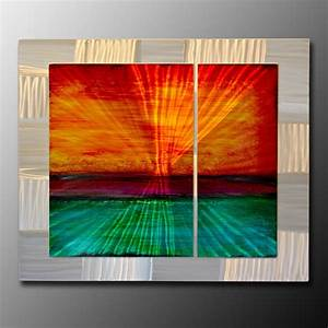 extra large metal wall art metal paintings and wall With large wall art