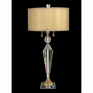 Dale tiffany strada crystal table lamp antique brass for Taliesin 1 table lamp