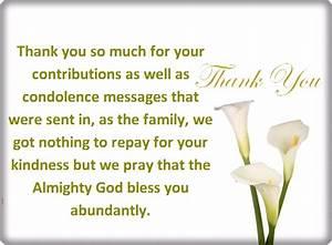 thank you letter condolences images letter format formal With thank you letter for sympathy