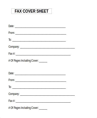 sle fax cover sheet microsoft word 9 exles in word