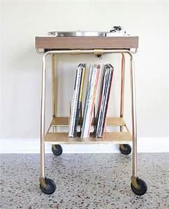 Meuble Pour Tourne Disque : meuble vintage pour platine et disques ~ Teatrodelosmanantiales.com Idées de Décoration