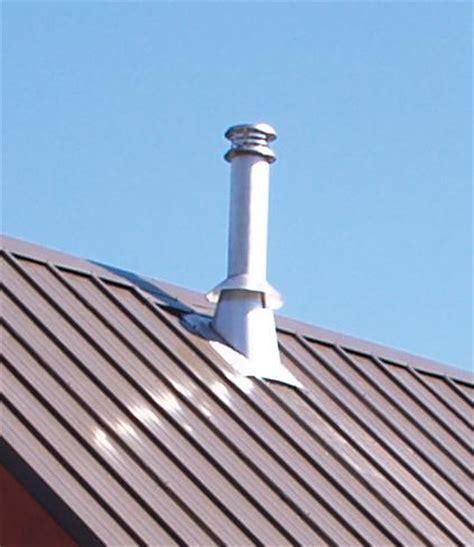 Metal Roof: Chimney Pipe Through Metal Roof