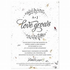 seeds of love plantable wedding invitation plantable With wedding invitations you can plant