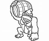Kong Donkey Arcade Machine Coloring Template Drawing sketch template
