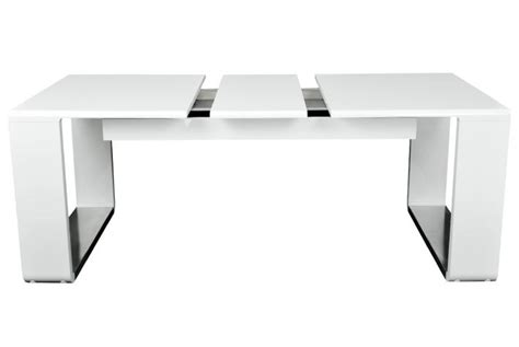 table design extensible blanche