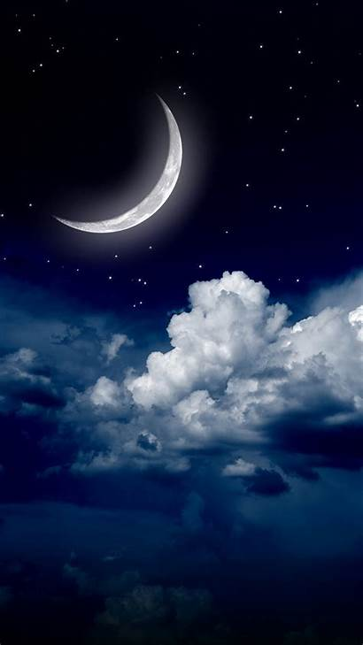Galaxy Moon Samsung Sky Wallpapers S5 Clouds
