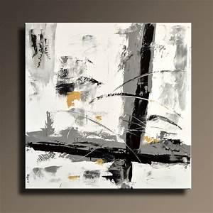 Tableau Moderne Noir Et Blanc : ides de peinture moderne noir et blanc galerie dimages ~ Teatrodelosmanantiales.com Idées de Décoration