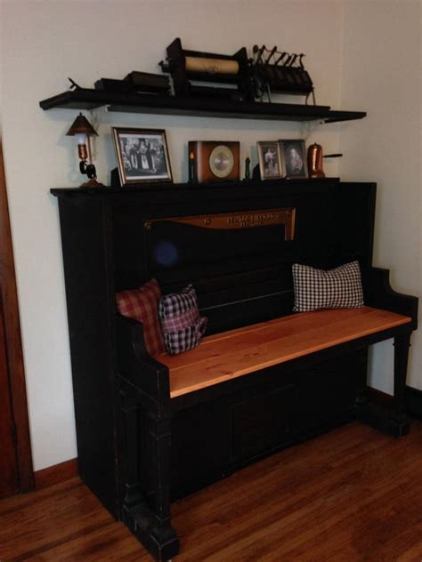 piano repurposed repurposing projects creative pianos furniture recycled into repurpose bench desk hative diy parts idea refurbished reuse antique upright