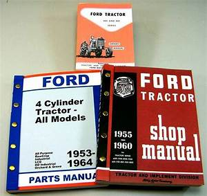 Lot Ford 671 681 841 Tractor Owner Operator Parts Service