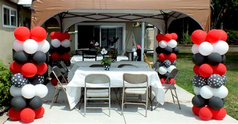 balloon columns   mickey mouse party  sisters