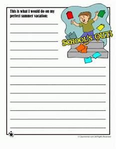 Printable Summer Writing Practice Worksheets