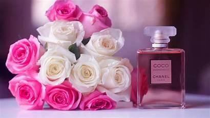 Chanel Coco Perfume Flowers Blur Wallpapers Desktop