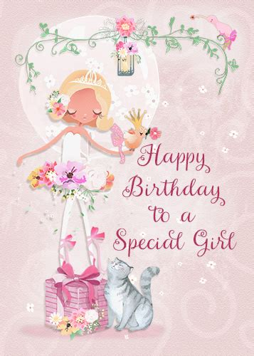 happy birthday   special girl   kids ecards