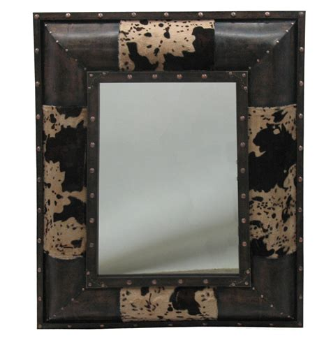 Cowhide Mirror by Pungo Ridge Home Of Western Boot Sales Western