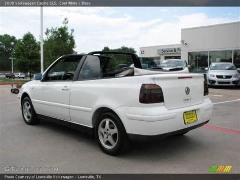 volkswagen cabrio cool 2000 volkswagen cabrio gls in cool white photo no
