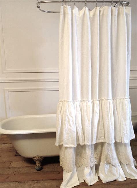 lace ruffle shower curtain sale
