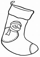 Coloring Christmas Sock Pages sketch template