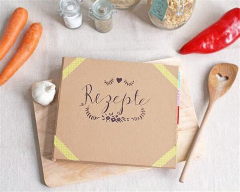 diy kochbuch mit tafelfolie handmade kultur