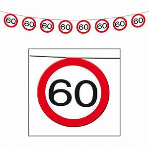 Geburtstagsbilder Zum 60 : girlande verkehrsschild 60 geburtstag 12 m g nstig kaufen bei ~ Buech-reservation.com Haus und Dekorationen
