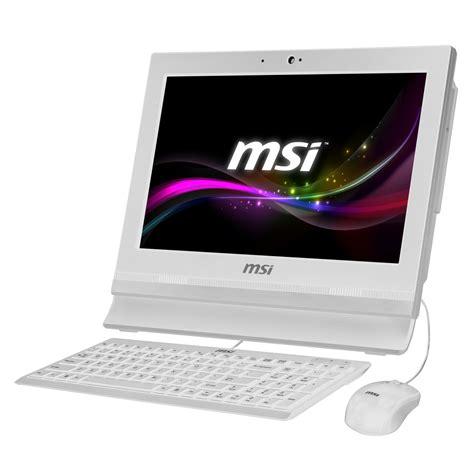 ordinateur de bureau hp windows 7 msi wind top ap1622 201fr blanc pc de bureau msi sur