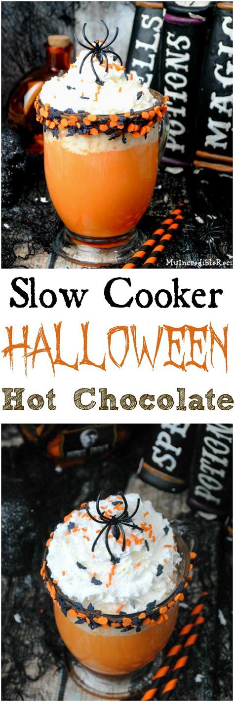 slow cooker halloween hot chocolate