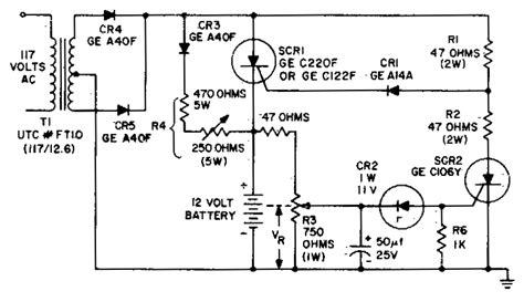 battery charging regulator circuit diagram world