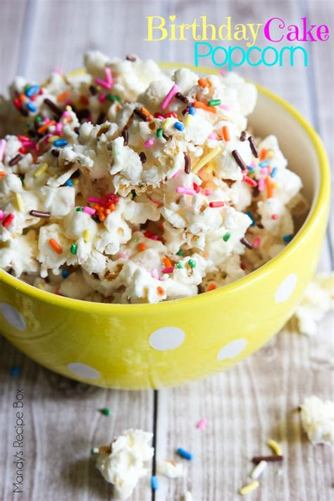 birthday cake popcorn mandys recipe box