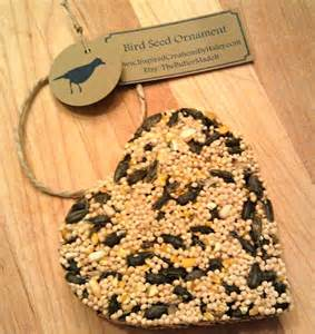 bird seed shaped ornament favor customizable tags