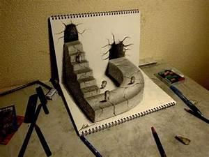 Amazing 3D Art on sketchbook【31】 - YouTube