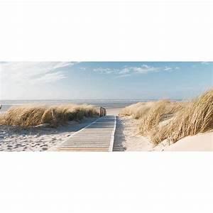 Tableaux Mer Et Plage : tableau en verre la plage cocktail scandinave ~ Teatrodelosmanantiales.com Idées de Décoration
